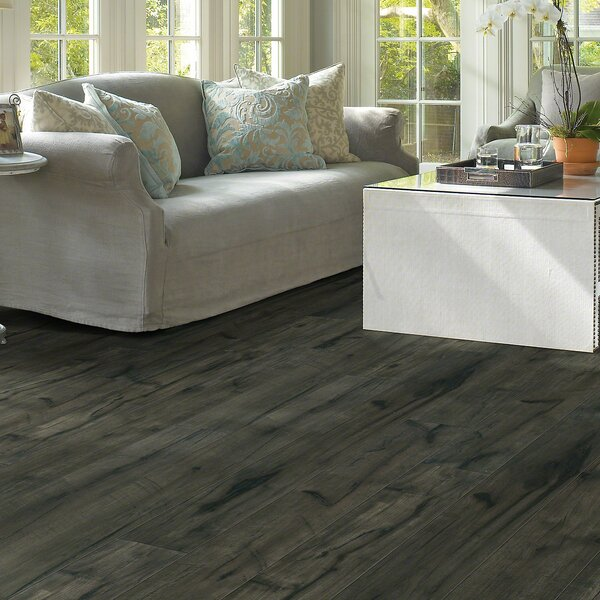 Milbank Hickory 5 x 51 Laminate Flooring in Gray by Shaw Floors