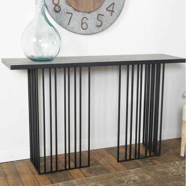 Chenier Modern Vertical Lines Rectangular Console Table by Brayden Studio