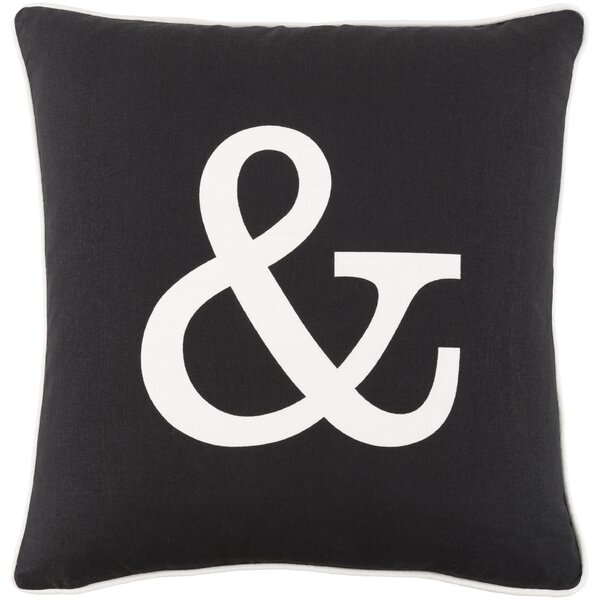 Carnell Zipper Cotton Throw Pillow by Mercury Row