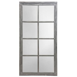 Highland Dunes Silwell Lodi Windowpane Wood Accent Mirror