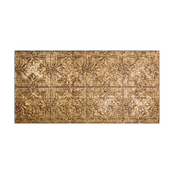 Regalia 2 ft. x 4 ft. Glue-Up Ceiling Tile in Cracked Copper by Fasade