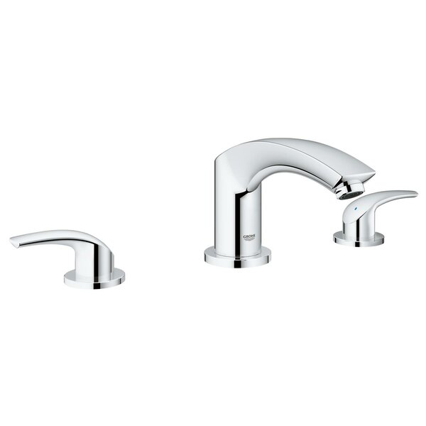 New Eurosmart 3 Hole 2 Handle Deck Mounted Bath Mixer by Grohe