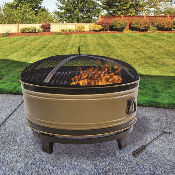 Colossal Steel Wood Burning Fire Pit by Pleasant Hearth