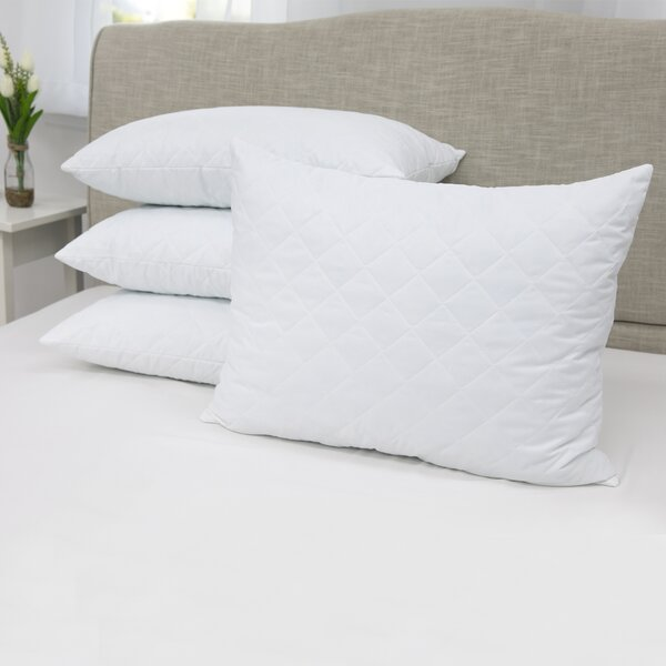 Zachary Quilted Memory Foam Standard Pillow (Set of 4) by Alwyn Home