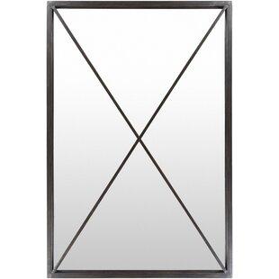Gracie Oaks Platea Cross Framed Steel Full Length Wall Mirror