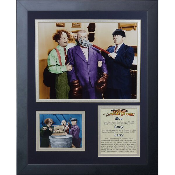 The Three Stooges Framed Memorabilia by Legends Never Die