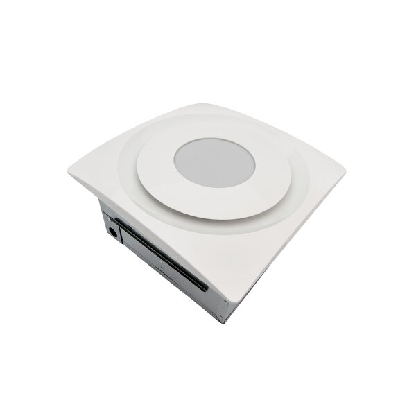 Slim Fit 90 CFM Bathroom Fan with Light and Sensor by Aero Pure