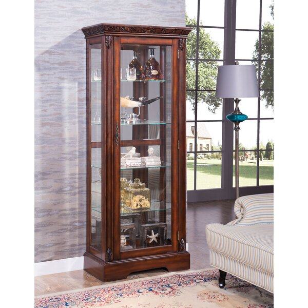 Emelle Lighted Curio Cabinet by Astoria Grand