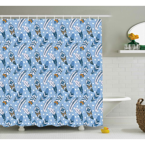 Frye Decor Romantic Leaves Shower Curtain by Ebern Designs