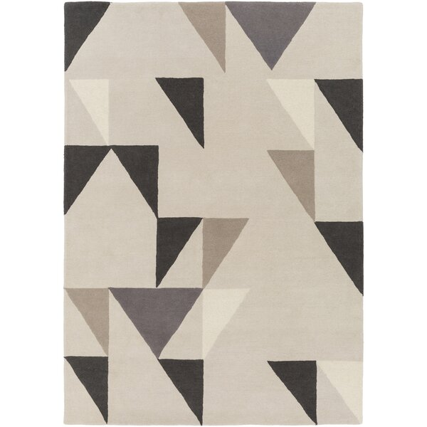 Julienne Hand-Tufted Cream Area Rug by Ivy Bronx