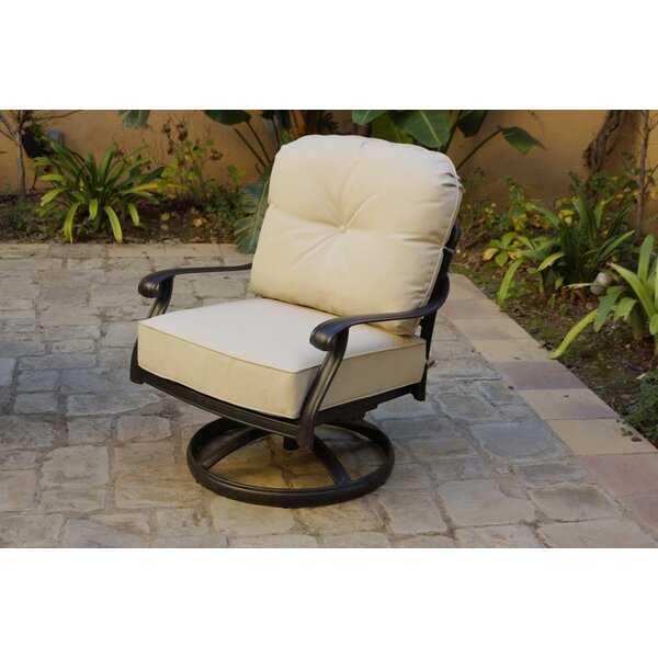 Shofner Rocker Patio Chair with Cushions (Set of 4) by Canora Grey Canora Grey