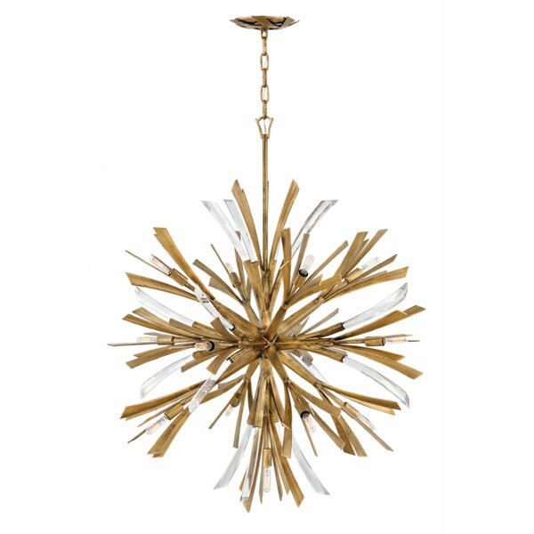 Saltville 13 - Light Sputnik Sphere Chandelier With Crystal Accents By Everly Quinn