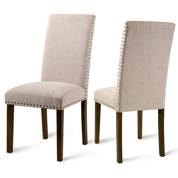 Parcell Linen Upholstered Dining Chair In Beige (Set Of 2) By Red Barrel Studio