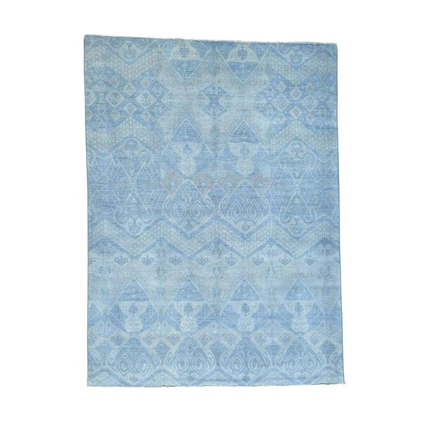 One-of-a-Kind Overdyed Hand-Knotted Blue Area Rug by Bloomsbury Market