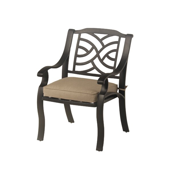 Borman Stacking Patio Dining Chair With Cushion By Darby Home Co