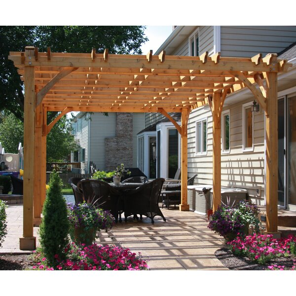 Breeze 13 Ft. x 21.5 Ft. Solid Wood Pergola by Outdoor Living Today