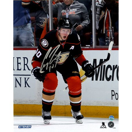 Corey Perry Anaheim Ducks Celebrates OT Goal Against Colorado Avalanche Signed Graphic Art by Steiner Sports