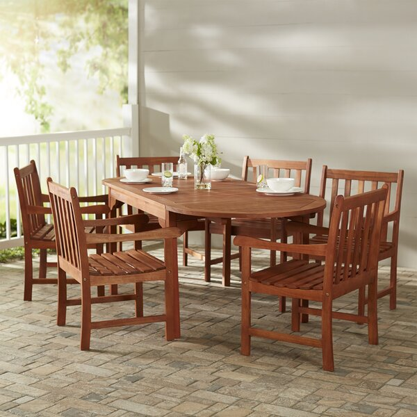 Monterry Traditional 7 Piece Dining Set by Beachcrest Home