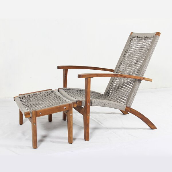 Doggett Rope Weaving Patio Chair by Bay Isle Home