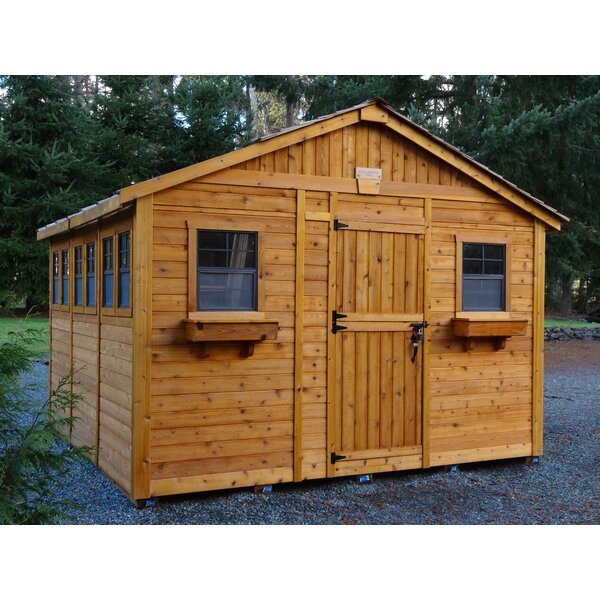 Sunshed 12 ft. W x 12 ft. D Wooden Storage Shed by Outdoor Living Today