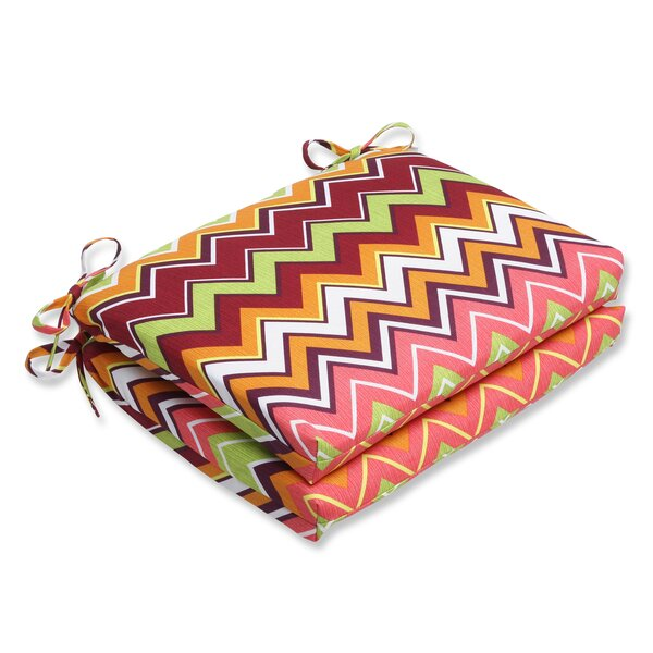 Chevron Indoor/Outdoor Dining Chair Cushion (Set of 2)