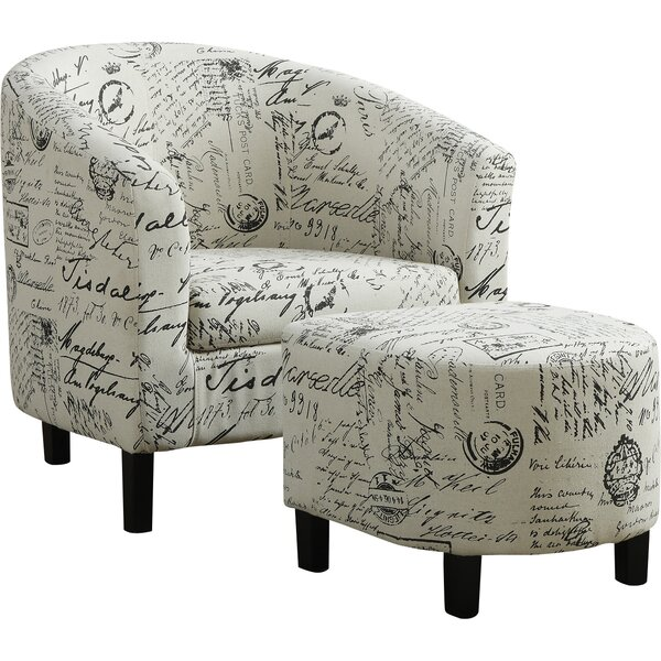 Claris Barrel Chair And Ottoman By Ophelia & Co.