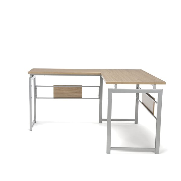 Tiano L Corner Desk with Metal Leg by Latitude Run