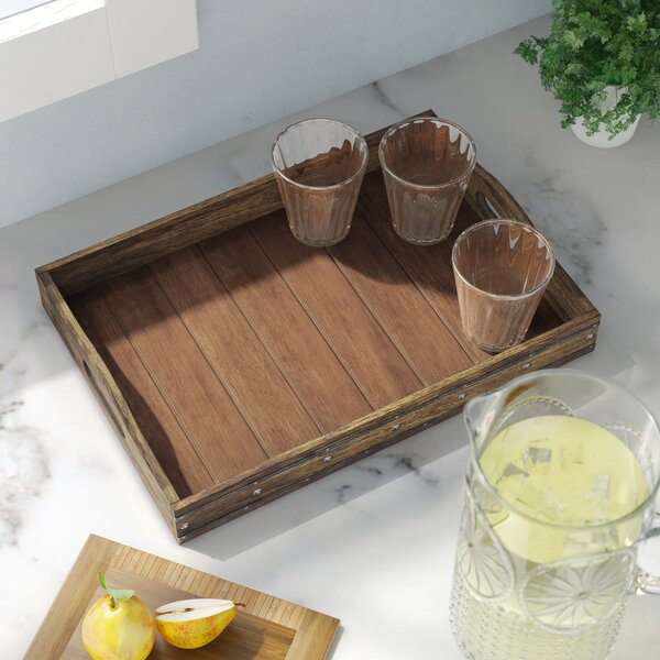 Donna Rectangular Wooden Serving Tray by Gracie Oaks