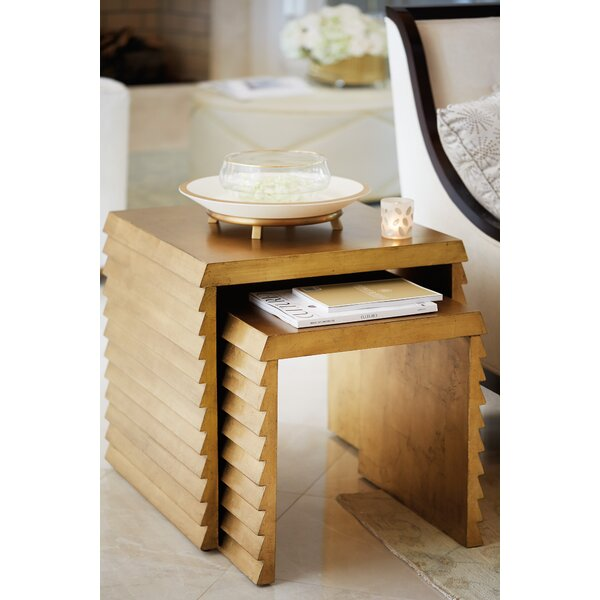 Jet Set 2 Piece Nesting Tables by Bernhardt
