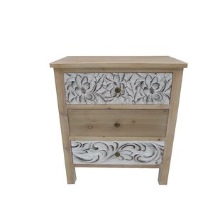 Read Reviews Boyabat 3 Drawer Accent Cabinet ByBungalow Rose