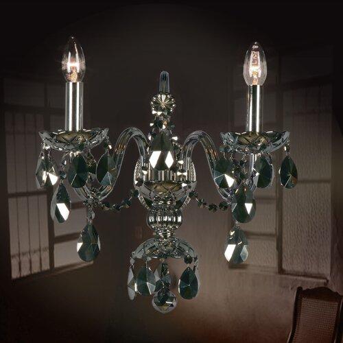 Beiler 2-Light Candle Wall Light Astoria Grand