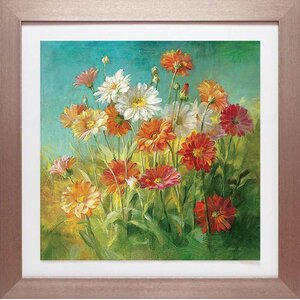 'Painted Daisies' Framed Graphic Art Print by Red Barrel Studio