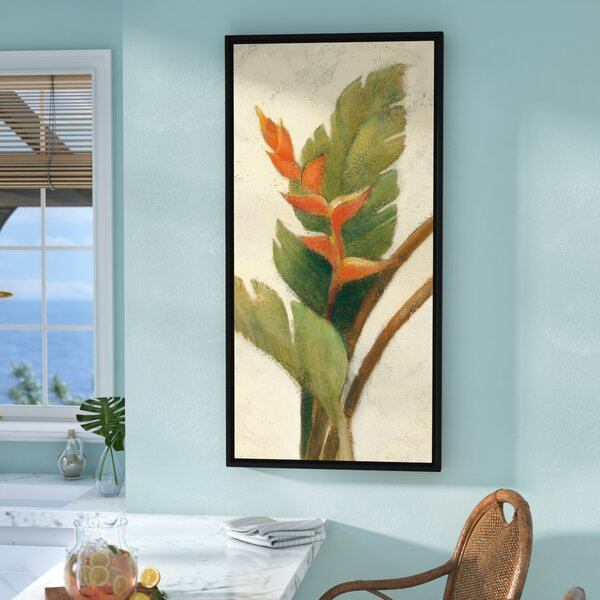 'Heliconia Blossom' by Albena Hristova Framed Painting Print by Bay Isle Home