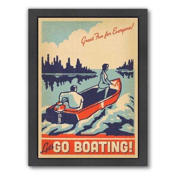 Lake Go Boating Framed Vintage Advertisement by East Urban Home