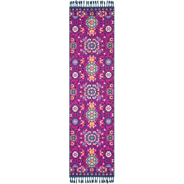 Ripon Bright Pink/Navy Area Rug by Bungalow Rose