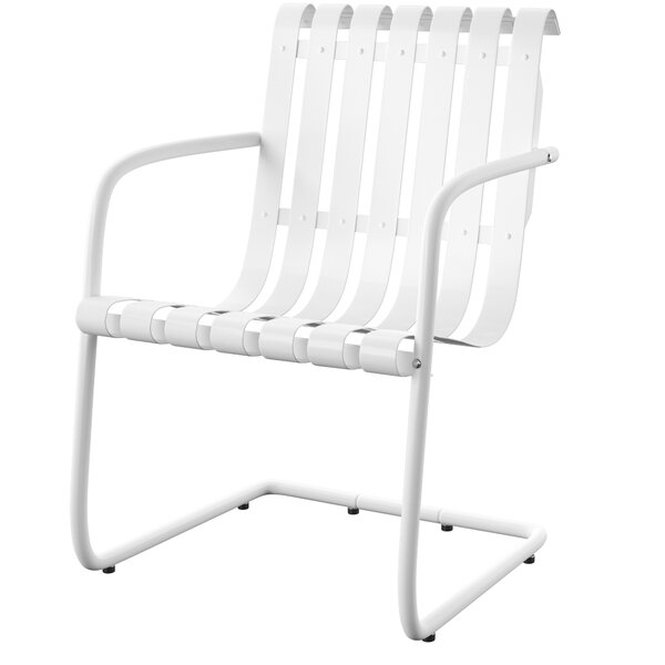 Erato Stainless Steel Patio Chair (Set of 2) by Mercury Row