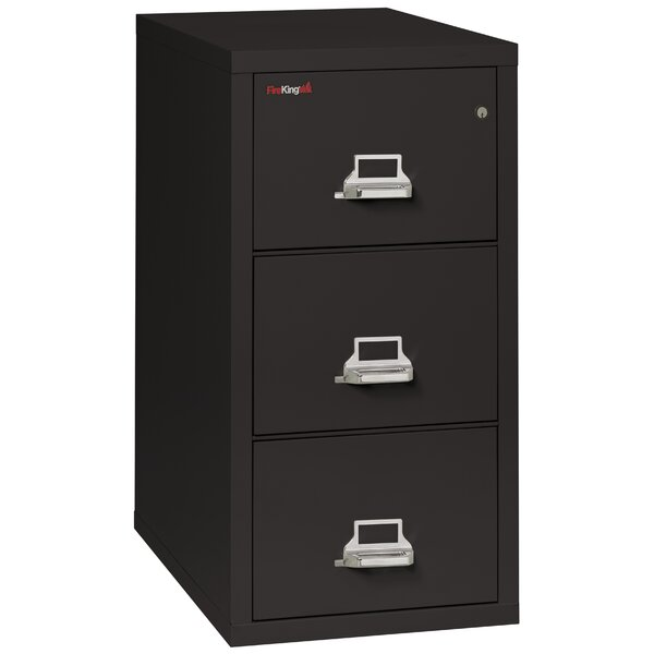 Fireproof 3-Drawer Vertical File Cabinet by FireKing