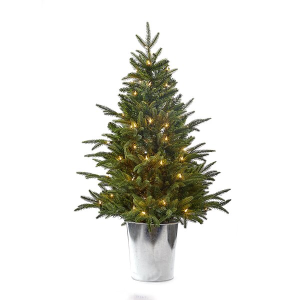 4 Pre-Lit Artificial Christmas Tree with 100 Lights by Kurt Adler
