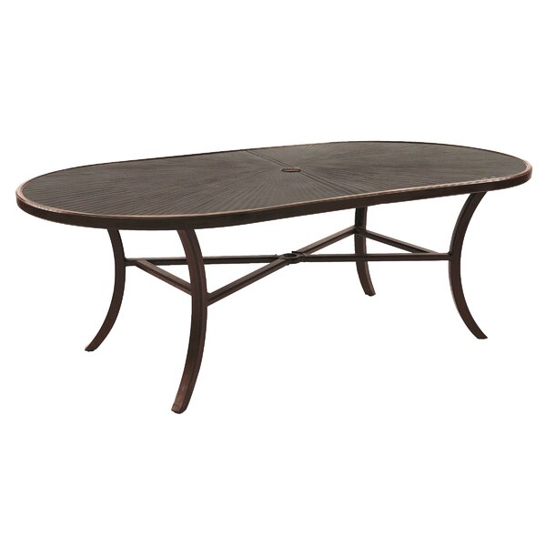 Heritage Aluminum Dining Table by Leona