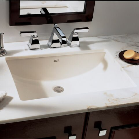 Studio Ceramic Rectangular Undermount Bathroom Sin