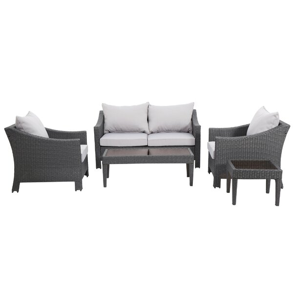 Portola 5 Piece Sofa Seating Group with Cushions by Sol 72 Outdoor Sol 72 Outdoor