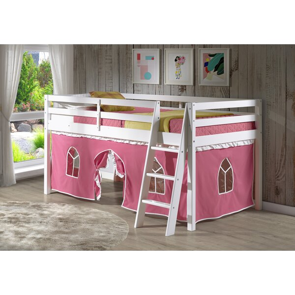 Gladwin Junior Twin Low Loft Bed with Tent by Zoomie Kids