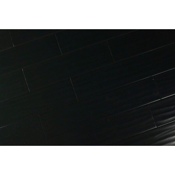 Becher Random Length 6-1/2 Engineered Maple Hardwood Flooring in Ebony by Albero Valley