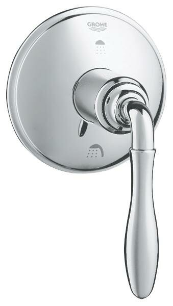 Seabury Three Port Diverter Trim with Lever Handle by Grohe
