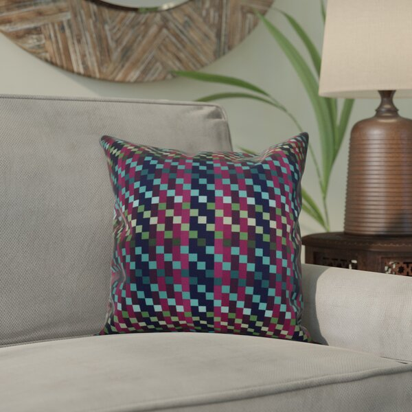 Liam Mad for Plaid Geometric Outdoor Throw Pillow by Corrigan Studio