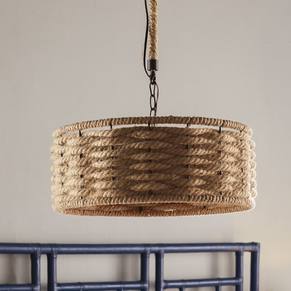 Griffin 3-Light Drum Chandelier by Bay Isle Home