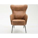 Pleasing Modern Contemporary Saddle Brown Leather Chair Allmodern Creativecarmelina Interior Chair Design Creativecarmelinacom