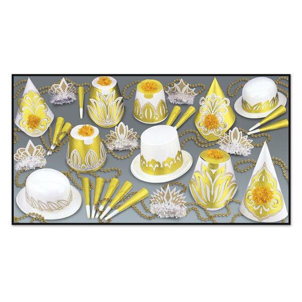Golden Nugget Disposable Party Hat Set by The Holiday Aisle
