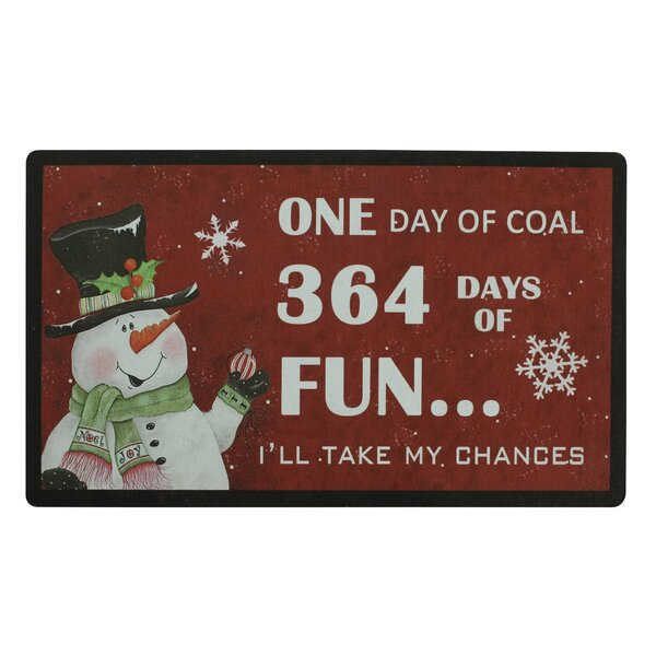 Christmas Trimmed Doormat by Attraction Design Home