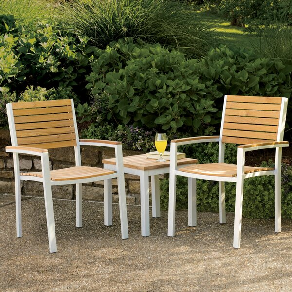 Travira 3 Piece Teak Conversation Set by Latitude Run